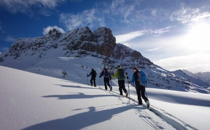 Ausbildungswoche Skitouren Bivio