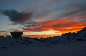 Tour Soleil auf Skiern