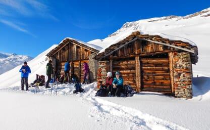 Schneeschuhtouren und Wellness in Vals