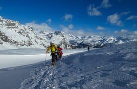 Schneeschuhtour von der Alpe Devero ins Binntal