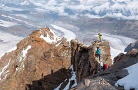 Hochtour Dom 4545m und Dufourspitze 4636m