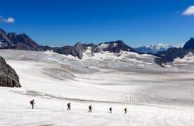 Gletschertrekking einsame Planurahütte