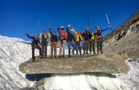 Gletschertrekking Monte-Rosa-Hütte