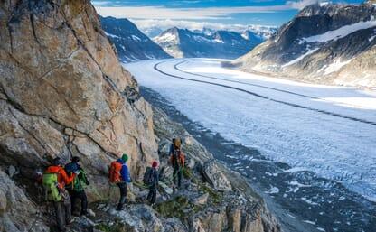 Gletschertrekking vom Jungfraujoch zur Alpe Devero