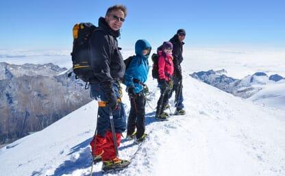 Familien-Bergsteigen (Fels/Firn/Eis) und Wellness in Saas Fee