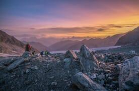 Gletschertrekking vom Barrhorn zum Bishorn 4153m